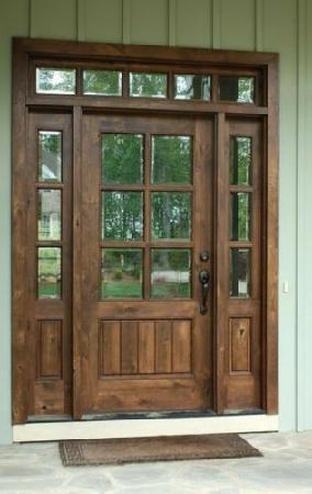 درب چوبی ورودی سبک مدرن