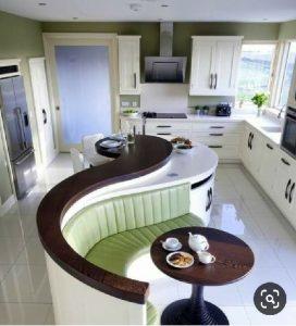 میز و کانتر چند منظوره در دکوراسیون آشپزخانه