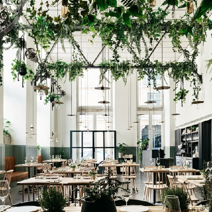دکوراسیون رستوران، دکوراسیون رستوران چوبی، طراحی دکوراسیون رستوران،
