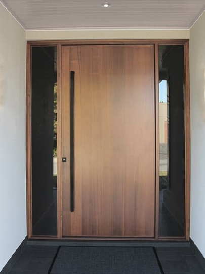 درب چوبی ساده شیک و جالب، درب چوب گردو