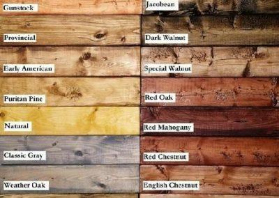 انواع رنگ چوب کاج , پالت رنگ