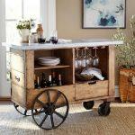 میز بار چرخدار , میز کار آشپزخانه چوبی