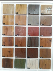 نمونه رنگ ترمووود، رنگ فضای بیرون، رنگ چوب