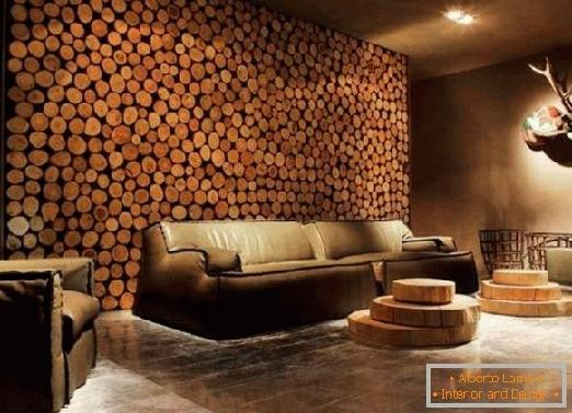 دیوارکوب لمبه چوب طبیعی، پانل دیواری در دکوراسیون داخلی