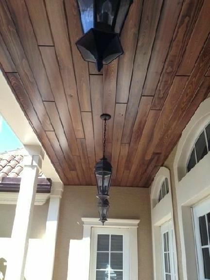 مدل دیوارکوب لمبه برای سقف کاذب چوبی ، لمبه چوب کاج