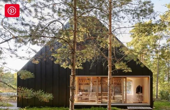 کلبه چوبی، ساختمان چوبی، دکوراسیون و نمای شله از چوب