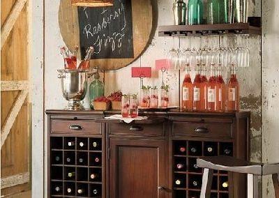 میز بار چوبی , ایده های خلاقانه و کاربردی میز بار دیواری
