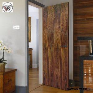 درب چوب گردو سبک معاصر