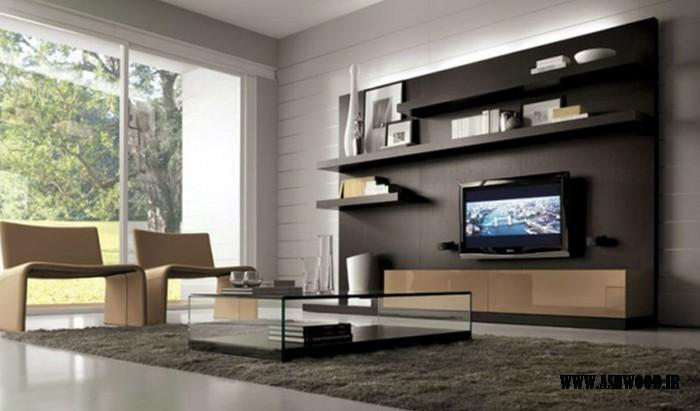 دیوار و میز تلویزیون جالب و جدید 2018