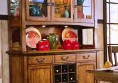 گنجه چینی الات ( Chinaware cupboard ) بوفه و ویترین چوبی دکوراسیون