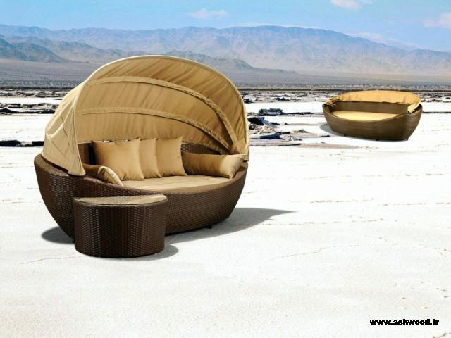 طراحی سبک معاصر میز و صندلی آلاچیق و مبلمان روف گاردن ، بار چوبی