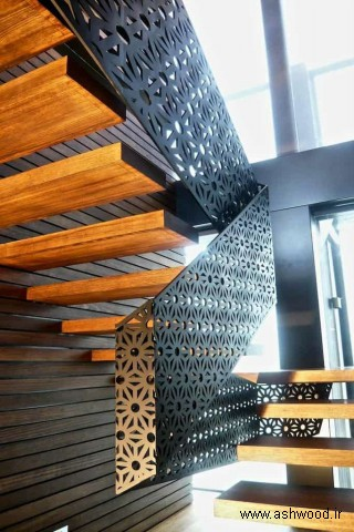 ساخت پله چوبی , نرده چوبی , قیمت و مراحل ساخت