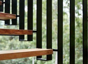 نمونه کار پله چوبی , پله چوبی دوبلکس