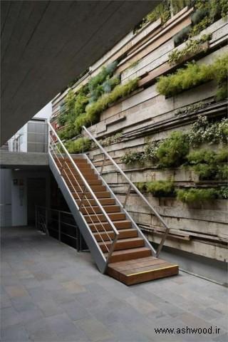 پله سبک معاصر , پله چوبی , مدل نرده پله , عکس پله