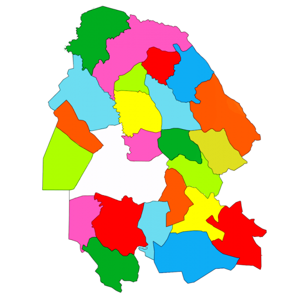 counties of Khuzestan province, Iran