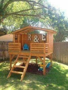 کلبه چوبی، ایده های جالب کلبه چوبی، فضایی برای بازی کودکان و نوجوانان