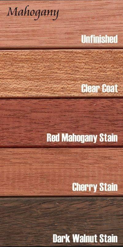 چوب ماهگونی , معرفی انواع چوب