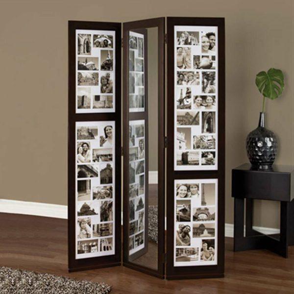 سیاه و سفید چوب آویز تاشو صفحه نمایش سبک کلاژ عکس قاب عکس