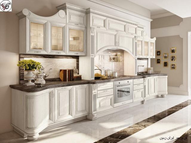 دکوراسیون و مبلمان معاصر ایتالیایی برای طراحی آشپزخانه منحصر به فرد و مدرن کلاسیک