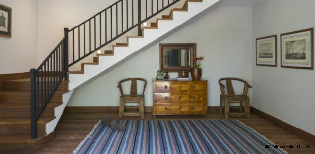 تزیین فضای زیر پله , مدل پله زیبا و کاربردی ٬ ایده پله٬ الهام و ایده در دکوراسیون راه پله چوبی