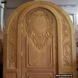 ساخت درب تمام چوب منبت کاری با دست