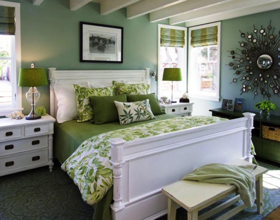 ایده های تزئینات اتاق خواب سبز با عکس کلاسیک ...