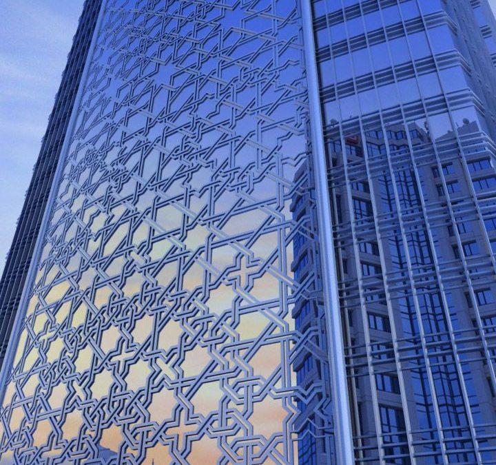طراحی هندسی اسلامی نمای ساختمان