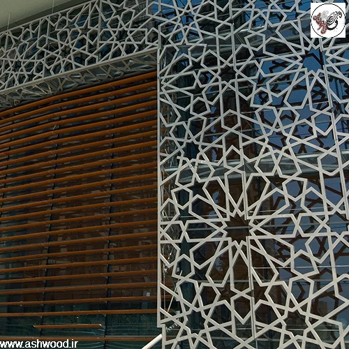 نمای ساختمان طراحی هندسی اسلامی