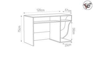 ابعاد استاندارد میز تحریر