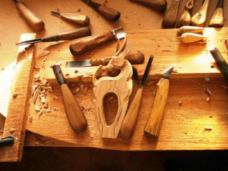 آموزش نجاری , طراحی و ساخت مجسمه چوبی