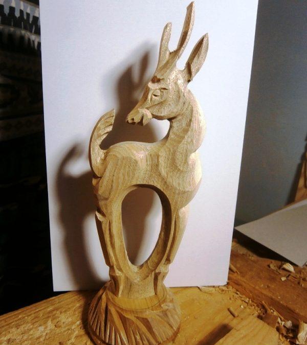 آموزش ساخت مجسمه چوبی به شکل بز ( ایده راه و روش برای ساخت مجسمه چوبی )