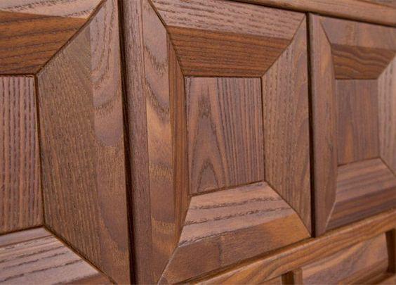 درب چوبی هندسی تمام چوب