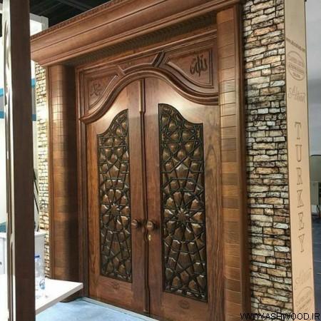 تصویر درب چوبی , مدل و ایده های جالب درب های خلاقانه