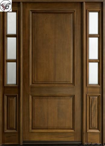 درب تمام چوب ورودی ساختمان , مدل درب تمام چوب