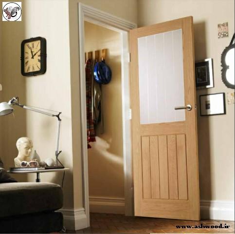 درب چوبی از سبک مدرن تا سنتی , درب چوب بلوط