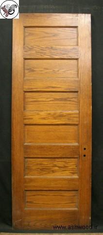 درب چوبی 6 پنلی