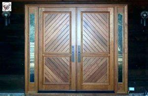 ایده های درب چوبی ورودی ساختمان – مدل درب چوبی مناسب ساختمان های لوکس و زیبا در سال 2019
