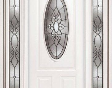 درب چوبی با پنجره بیضی و گرد , ساخت درب تمام چوب