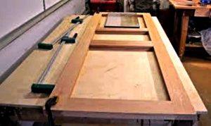 ساخت درب چوبی , درب تمام چوب