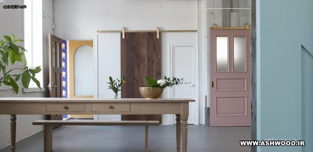 درهای سبک کشویی ، درب ریلی ، در های چوبی