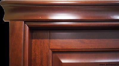 درب چوبی سبک کلاسیک دکوراسیون