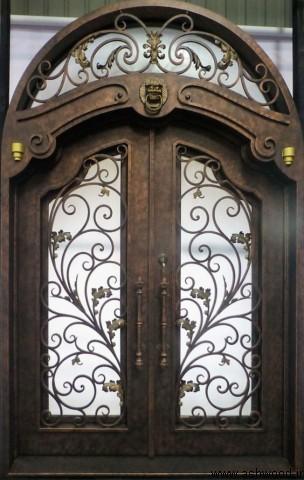 درب چوبی هلالی , مدل درب چوبی , درب ورودی قوس دار , آرک ورودی و درب