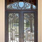 طراحی و ساخت درب های چوبی تلفیق چوب و فلز , فرفورژه مدرن و کلاسیک