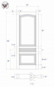 درب تمام چوب داخلی ساختمان٬ درب داخلی٬ درب و چهارچوب در اتاقی ، درب داخلی منزل سبک کلاسیک٬