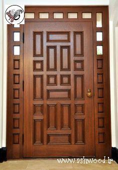 ایده ساخت درب چوبی ورودی ساختمان ایده درب ورودی٬ درب ورودی٬ درب ورودی ساختمان