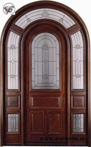 درب چوب ماهون , ساخت درب ورودی