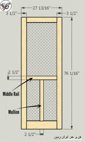 آموزش ساخت درب چوبی , کلاف درب چوبی