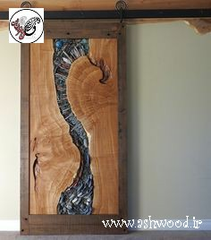 ایده های ناب درب چوبی ساخته شده از اسلب و تنه درخت 2019