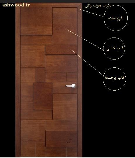 درب چوب راش , درب مدرن , درب برجسته , مدل درب 2018 , عکس درب