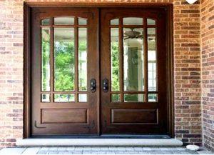 درب ورودی ساختمان , چوب و فرفورژه درب ورودی ساختمان , چوب و فرفورژه